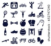 lifestyle icons set. set of 25... | Shutterstock .eps vector #652747240