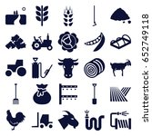 agriculture icons set. set of... | Shutterstock .eps vector #652749118