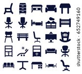 furniture icons set. set of 25... | Shutterstock .eps vector #652749160