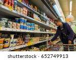interesting woman chooses... | Shutterstock . vector #652749913