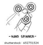 hand fidget spinner vector... | Shutterstock .eps vector #652751524