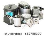 set of kitchen home appliances. ... | Shutterstock . vector #652755370