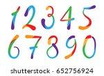 arabic numerals set 1 10....