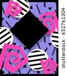 vibrant memphis style banner ... | Shutterstock . vector #652761304
