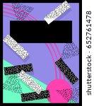 vibrant memphis style banner ... | Shutterstock . vector #652761478