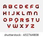 flat triangle alphabet | Shutterstock .eps vector #652764808