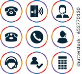 contact icons set. set of 9... | Shutterstock .eps vector #652770130