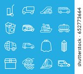 delivery icons set. set of 16... | Shutterstock .eps vector #652773664