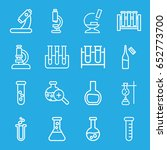 lab icons set. set of 16 lab... | Shutterstock .eps vector #652773700