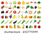 vector vegetables and fruits... | Shutterstock .eps vector #652775599