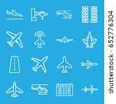 airline icons set. set of 16... | Shutterstock .eps vector #652776304