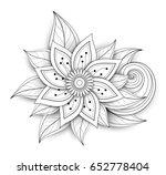 vector beautiful abstract... | Shutterstock .eps vector #652778404