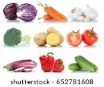 collection of vegetables bell... | Shutterstock . vector #652781608