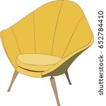 vector yellow chair isolated  | Shutterstock .eps vector #652784410