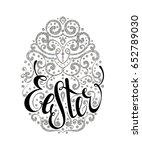 handdrawn graceful silver...   Shutterstock . vector #652789030