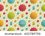 abstract 3d colorful islamic... | Shutterstock .eps vector #652789750