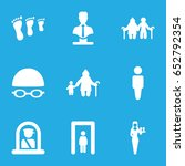 adult icons set. set of 9 adult ... | Shutterstock .eps vector #652792354
