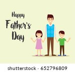 happy father's day  daughter... | Shutterstock .eps vector #652796809
