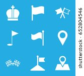 location icons set. set of 9...
