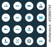 auto colorful icons set....   Shutterstock .eps vector #652806763