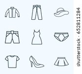 garment outline icons set.... | Shutterstock .eps vector #652811284