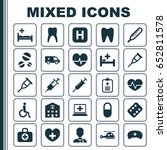 medicine icons set. collection... | Shutterstock .eps vector #652811578