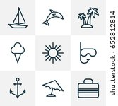 hot outline icons set.... | Shutterstock .eps vector #652812814