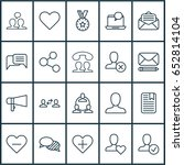 social icons set. collection of ... | Shutterstock .eps vector #652814104