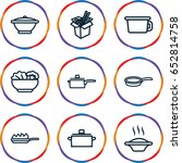 soup icons set. set of 9 soup... | Shutterstock .eps vector #652814758