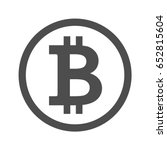 bitcoin sign icon for internet... | Shutterstock .eps vector #652815604
