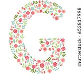 vector floral letter g. the...