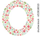 vector floral letter o. the... | Shutterstock .eps vector #652818010