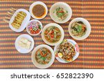 set of thai food on the table... | Shutterstock . vector #652822390