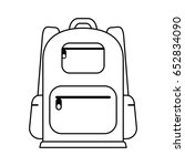 travel backpack icon image  | Shutterstock .eps vector #652834090