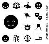 Joy Icon. Set Of 13 Filled...
