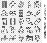 treatment icons set. set of 25... | Shutterstock .eps vector #652842079