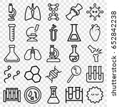 biology icons set. set of 25... | Shutterstock .eps vector #652842238
