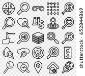 search icons set. set of 25... | Shutterstock .eps vector #652844869