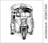 sketch of transportation city... | Shutterstock .eps vector #652847260