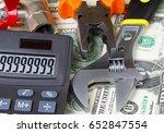 calculator with big sum on... | Shutterstock . vector #652847554