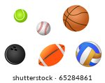 set of sport balls isolated on... | Shutterstock . vector #65284861