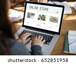 e commerce online shopping... | Shutterstock . vector #652851958