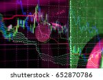 charts of financial instruments ...   Shutterstock . vector #652870786