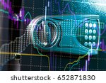 financial data on a monitor as... | Shutterstock . vector #652871830