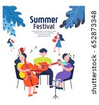 exciting summer performance | Shutterstock .eps vector #652873348