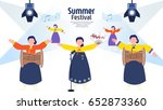 exciting summer performance | Shutterstock .eps vector #652873360