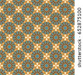 seamless texture with arabic... | Shutterstock .eps vector #652875100