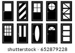 set of different doors isolated ...   Shutterstock .eps vector #652879228