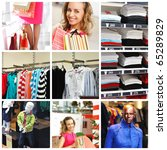 collage made with shopping... | Shutterstock . vector #65289829