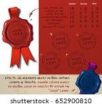 vector illustration of a wax... | Shutterstock .eps vector #652900810